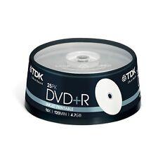 TDK DVD+R Imprimible 4.7gb 120min 16x 25 TARRINA