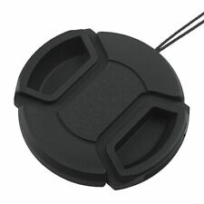 77mm Center Pinch Snap-on Front Lens Cap Hood Cover For Canon Lens With Strap