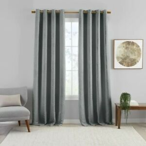 Sunveil Huxley Geometric Embroidered Blackout Curtain Panel - 52 X 95