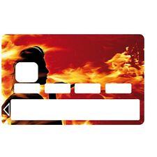 Stickers Autocollants Skin Carte de Crédit CB Flammes 1064 1064
