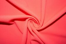 Neon Fuchsia #35 Bullet Double Knit Stretch Polyester Lycra Spandex Fabric BTY