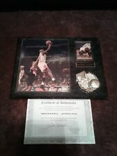 Michael Jordan Auto. Picture And Plaque