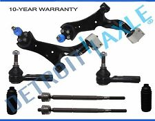 New 8pc 2 Lower Control Arms & Ball Joints + All (6) Tie Rods & Boots Chevy ,Vue