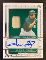 2019 Panini National Treasures Material Signatures JASON GIAMBI Autograph SP /20