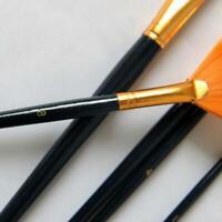 Filbert Bristle Hog Hair Artist Oil Paint Brush Art Brushes Painting Brush H