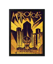 Metropolis Vintage Remastered Watercolour Poster Posters Print Prints Art Gift