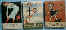 (3) 1930's–40's Art Deco Silk Stocking Repair Kits made by Real Silk Hosiery