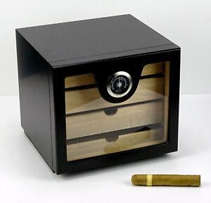 Angelo Humidor Schrank Cabinet schwarz ca 60 Zigarren Acrylpolymere Befeuchter