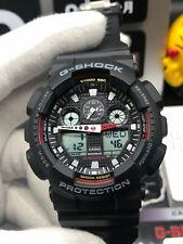 NEW G-Shock Black Resin Strap Chronograph Men's Watch GA100-1A4