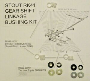 Gear Shift Linkage Bushing Kit for Toyota Stout RK41