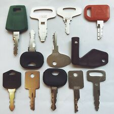 12 Keys Heavy Equipment / Construction Ignition Key Set fits volvo Deere kobuta