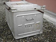 malle aluminium Omnibox design industriel XXème vintage made in France