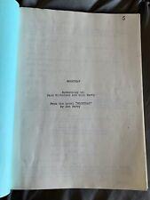 MOONTRAP by Jack Nicholson Bill Kirby RARE Unproduced Unused Screenplay Script