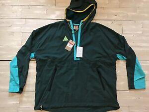 Mens Nike ACG Woven Hooded Jacket Atomic Teal/Cyan Yellow 931907-375 Size Large
