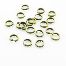 Steel Nickel Plated Open Double Split Key Jump Ring Connector 4/5/6/8/10/12/14mm