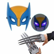 Wolf Wolverine Claws & Wolverine Mask Cosplay Props Plastic Toys Kids Gift New