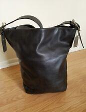 Coach Vintage Black Leather Legacy XL Duffle Bucket Shoulder Laptop Bag