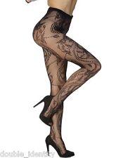 """Crossdress for Men Soft Black Fishnet Pantyhose Tights Floral Design up to 38"""""""