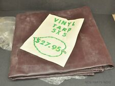 Vintage NOS Heavy Duty Brown Vinyl Tarp 5' x 5' w/ Original Price Tag