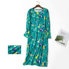 Women's Long Sleeve Cotton Sleepshirt Nightie dress Floral Sleepwear 14 16 18 20