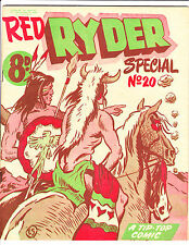 "Red Ryder Special No 20 1950's -Australian-"" Smoke Signals Cover ! """