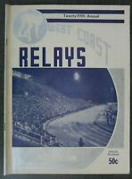 1951 WEST COAST Relays Official Program, Fresno, CA