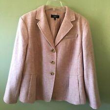 NEW talbots blazer 20 wp pink wool pleats jacket petite - size 20 wp