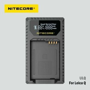 Nitecore ULQ Camera Battery Charger For Leica BP-DC12 Batteries (Q Series)