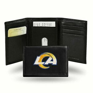 LA Rams NFL Embroidered Leather Tri-fold Wallet