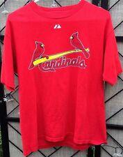 St. Louis Cardinals Baseball #4 Yadier Molina Player T-Shirt Majestic XL Youth