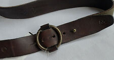 Ralph Lauren RRL DOUBLE RL Leder Loop Buckle Belt Gr 32