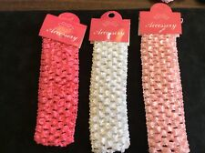 CROCHET HEAD BANDS FOR BABY-- 3 COLORS IN 1 SET