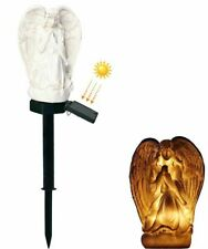 Cemetery Angel Led Light Solar Power Grave Windproof Waterproof Lawn Decoration