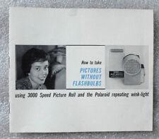 Polaroid 3000 Speed Film Wink Light instruction booklet