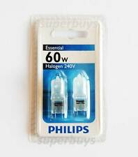 2pc Philips 60W G9 Frosted Halogen Dimmable Light Globe 240V Capsule 2000 Hrs
