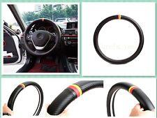 1Pcs German Flag Three Color Carbon Fiber Vip Car Steering Wheel Cover For M5 M6