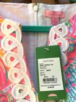 Lilly Pulitzer NWT $198 Ryder Shift Lace Front Dress Multi Swish Fish 00 #28557