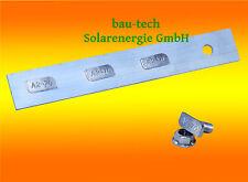 4 Stück Alu Profilverbinder  inkl. Verschraubung für Solar Profil Schiene