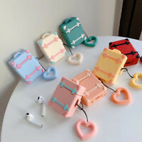 Earphone Protect Cover with Finger Ring Strap Luggage Case For Apple AirPods
