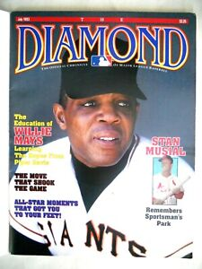 Willie Mays/Stan Musial on Cover of MLB Chronicle The Diamond July,1993