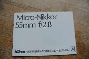 Nikon  Micro Nikkor  55 & 105mm F2 Era Lens Promotional advertising Booklet