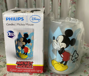 Philips Disney Mickey Mouse Children's LED Candle New In Box