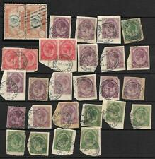 BECHUANALAND, KGV S.AFRICA STAMPS USED IN BECHUANALAND, 26 ITEMS, SCARCE.
