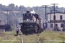 Boston & Maine RR   Canadian Pacific Rwy 1278  Laconia  NH 1968