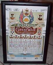 AIF Colour Patch Poster - Ww1 Australian Army Chart Great War