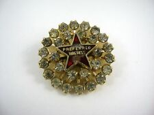 Vintage Collectible Pin: Preferred Hostess Stanhome Clear Jewels Design