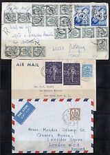 Libya 1950-60's Three Air Mail Covers Tripoli To Italy, Usa, & England
