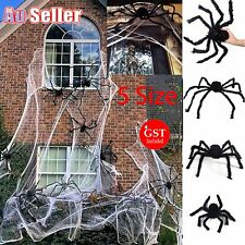 Giant Spider Halloween Decoration Haunted House Prop Indoor Outdoor Party Black