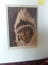 CURTIS  Edward Sheriff Lone Chief, Oto, 1930