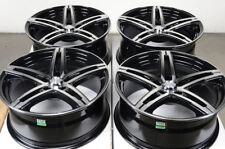 17 5x112 Black Wheels Fits Mercedes Benz Audi A4 A3 Volkswagen Passat 5 Lug Rims
